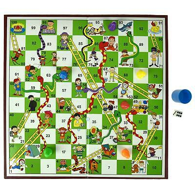 Snakes And Ladders Traditional Board Game Set Classic Family Fun Kids Adult Toy • 5.95£