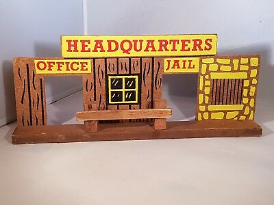 Wooden Toy Cowboy Headquarters Building 1/32 • 12£