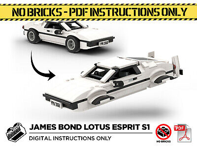 Lego MOC |  James Bond Lotus Espirt S1 Wet Nellie | PDF Instructions (NO BRICKS) • 6£