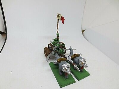 Warhammer Orcs And Goblins Wolf Chariot Metal Painted B A02 • 29.99£