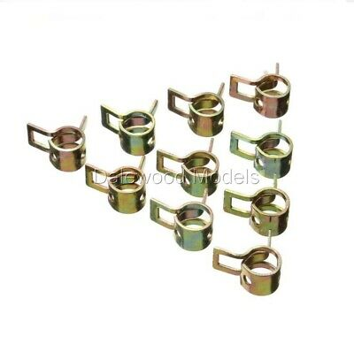 6Star 4.65mm Metal Fuel Clip/ Fuel Clamp For RC Airplane 10Pcs • 3.91£