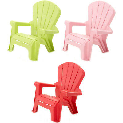 Little Tikes Children's Garden Chair - Choice Of Pink, Red Or Lime Green • 13.99£