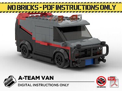 Lego MOC | A-Team Van | Custom Model | PDF Instructions (NO BRICKS) • 6£