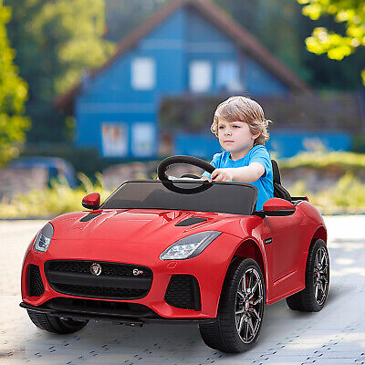 HOMCOM Kids Ride-On Car Jaguar F-type SVR Licensed 6V Rechargeable Battery Red • 111.99£