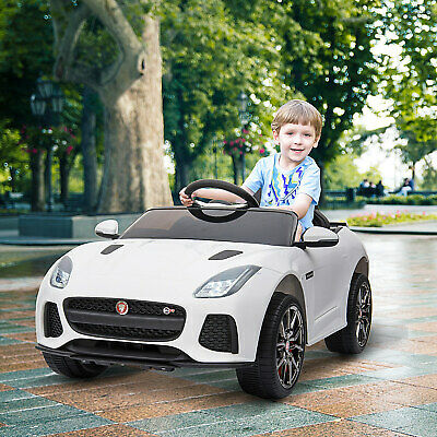 HOMCOM Kids Ride-On Car Jaguar F-type SVR Licensed 6V Rechargeable Battery White • 110.99£