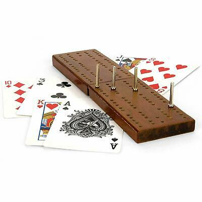 Classic Cribbage Family Game Folding Wooden Board Playing Cards Pegs Crib • 5.95£