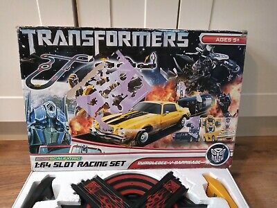 FOR PARTS/SPARES/EXTRA TRACK Micro Scalextric Transformers Bumblebee V Barricade • 19.95£