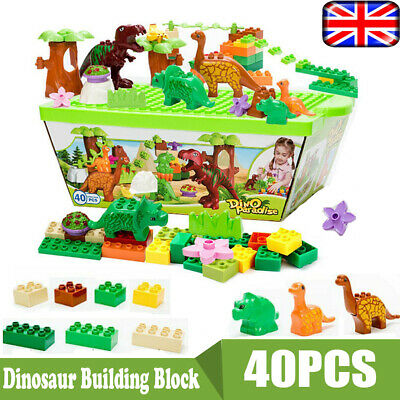 40PCS Dinosaur Jurassic Building Block Educational Toy For Children Fun Box Gift • 21.99£
