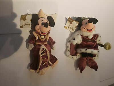 Disney Store Beanies - King Arthur Mickey & Guenivere Minnie - With Tags • 25£