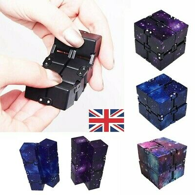 Sensory Infinity Cube Stress Fidget Toys For Autism Anxiety Relief Kids Adult UK • 5.65£