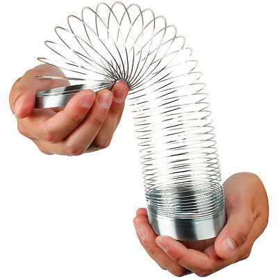 Magic Springy Slinky Metal Spring 6.5cm Dia Childrens Kids Retro Game Toy TY2168 • 6.65£