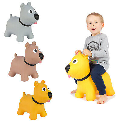 Dog Inflatable Space Hopper Jumping Bouncing + Pump Non-Toxic Indoor Outdoor Fun • 18.32£