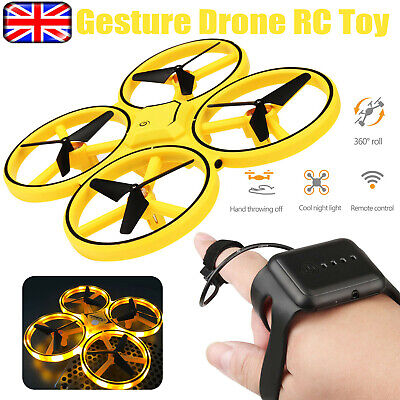 Mini RC Quadcopter Induction Drone Gesture Remote Control Altitude Hold Kids Toy • 18.39£