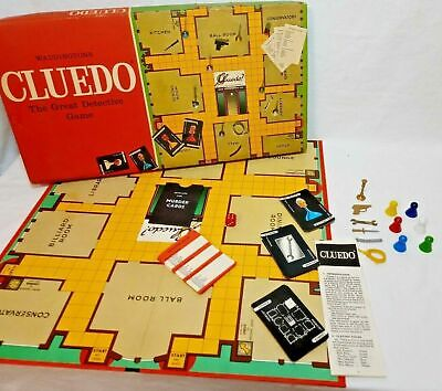 Original, Vintage Cluedo, Spare, Replacement Parts, Cards, Weapons & Movers • 2.25£