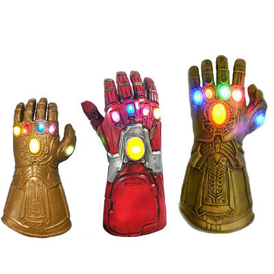 Thanos Iron Man Gloves Avenger Gauntlet Infinity Kids Adult Glove Led Light Toy • 15.99£