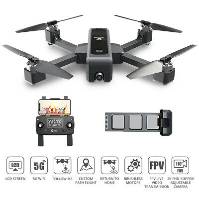 Holy Stone HS550 Brushless GPS RC Drone 2K Camera Wifi FPV Foldable Quadcopter • 189.99£