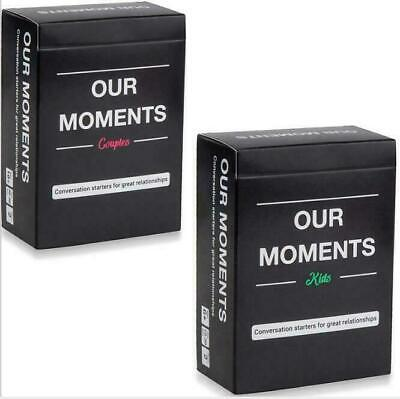 Our Moments Cards Couples Board Game 100 Thought Provoking Conversation Starters • 9.99£