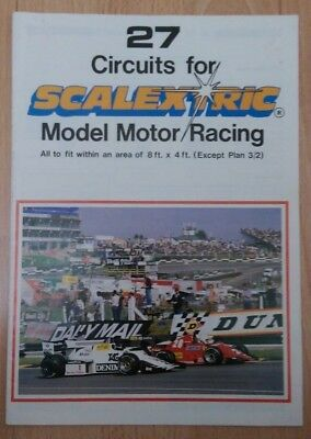 ** VINTAGE SCALEXTRIC BOOKLET : 27 Circuits For Model Motor Racing 1988 ** • 4.50£