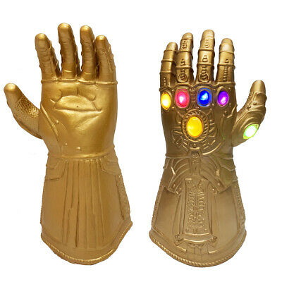Kids Infinity War Infinity Gauntlet LED Light Thanos Gloves Cosplay • 14.85£