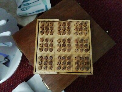 Sudoku Wooden Set With Playing Base, Pegs, Instructions & Case  • 5£
