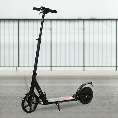 HOMCOM Kick Electric E Scooter Ride On Toy Folding Adjustable Big Wheels Black • 129.99£