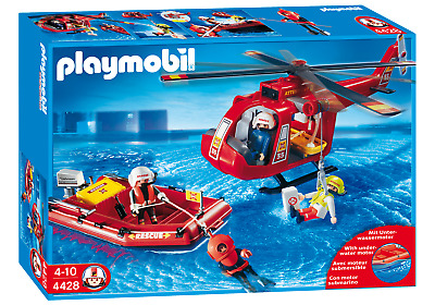 Playmobil 4428 Fire Rescue Set (Playsets, Boats & Aeroplanes) For Age 3+ • 27.99£