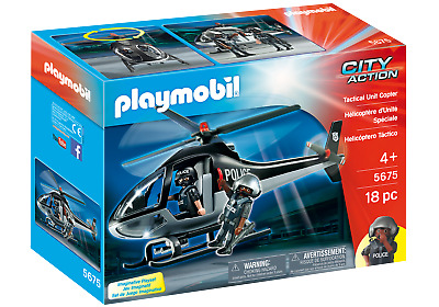 Playmobil 5675 Tactical Police Helicopter (Boats & Aeroplanes) For Age 3+ • 19.99£