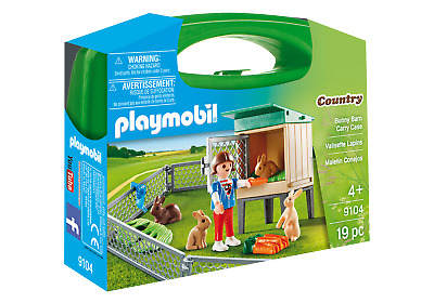 Playmobil 9104 Rabbit Pen Carry Case (Farm & Animals, Playsets) Age 3+ • 7.99£