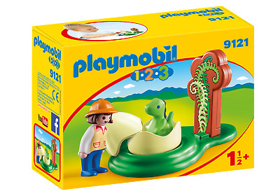 Playmobil 9121 1.2.3 Girl With Dino Egg  (figures & People, Dinosaurs) Age 3+ • 4.99£