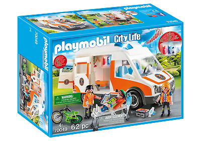 Playmobil 70049 City Life Hospital Ambulance With Lights And Sound • 47.99£