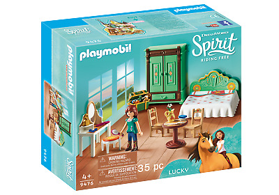 DreamWorks Spirit (C) 9476 Lucky's Bedroom By Playmobil (Playsets) Lucky Age 3+ • 26.99£