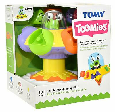 Tomy Toomies Sort & Pop Spinning UFO - Age 10 Mths+ • 14.99£