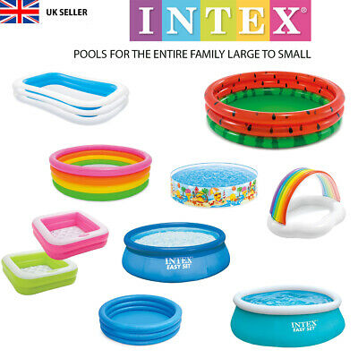 Paddling Pool Swimming Inflateable Baby Toddler Kids Family Intex Quality New • 22.99£