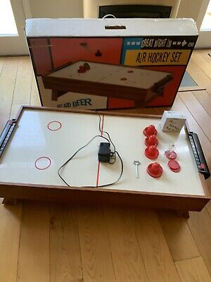 ELECTRIC Air Hockey Table - Wooden With Original Box • 50£