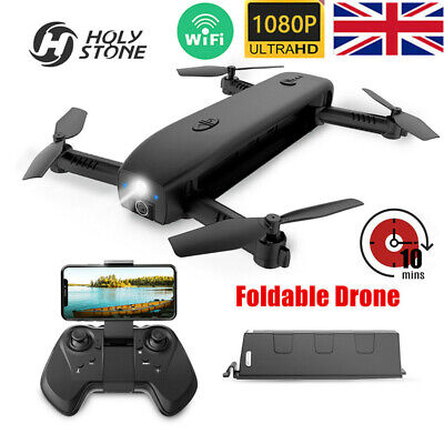 Holy Stone HS161 Foldable RC Drone Quadcopter With HD 1080P Camera WIFI FPV UK • 59.99£