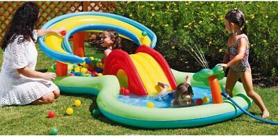 Chad Valley Kids Splash Paddling Pool Activity Pool Play Centre With Mini Slide • 44.95£