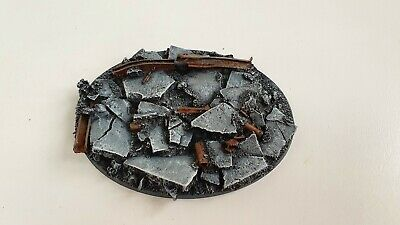 120x92mm Oval Resin Urban Rubble Bases, 40k Horus Heresy  Space Marines • 10.50£