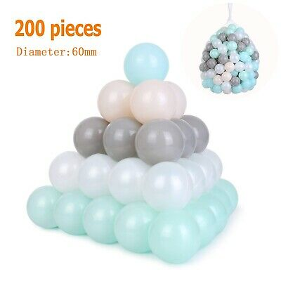 Funny 200pcs Soft Plastic Balls Children Colorful Ball Pits Kids Toys Play Pool • 19.99£