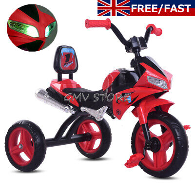Kids Moto Trike Toddler Tricycle 3 Wheel Ride On Motorcycle Bike Boys Toys Gifts • 32.90£