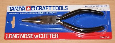 Tamiya 74002 Long Nose Pliers With Cutter, For RC & Plastic Kits, NIP • 27.99£