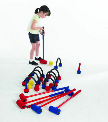 Childrens Garden Game Traditional Fun Playing Activity Superfoam Croquet Set • 86.99£