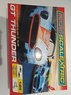 Scalextric Micro GT Thunder Aston Martin DBR9 Touring Cars Track Set • 19£