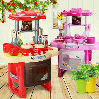 Electronic Kitchen Cooking Toy Toddler Children Kids Cooker Role Play Set Kit UK • 14.95£
