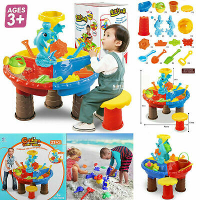 Childrens Kids Toddler Sand And Water Play Table Activity Toy Garden Sandpit New • 10.93£