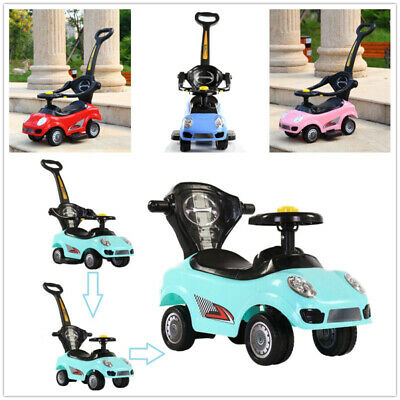 UK3 In 1 Ride On Car Kids Toddler Push Along Walker Toy With Music Children Gift • 34.99£