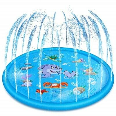 Sprinkler Pad Splash Play Mat Inflatable Water Swimming Pool Toy Kid 170CM • 16.59£