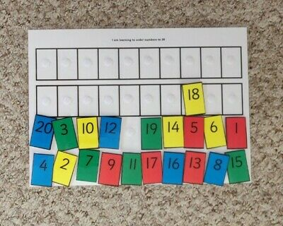 Hand Made Ordering Numbers To 20 Game. Children, School, Nursery • 3.30£