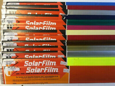 SOLARFILM  RC Aircraft Shrink-on Covering - Choose From List  • 5£