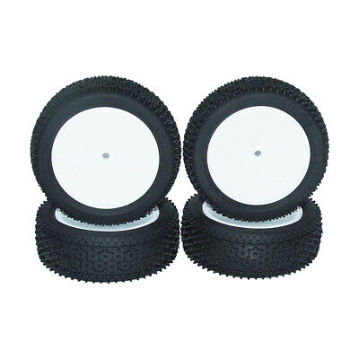 4Pcs RC Off-Road Rubber Tires&Wheel 12mm Hex For HSP 1/10 Buggy Model Car • 12.99£