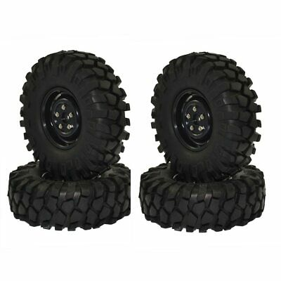 4PCS RC Rock Crawler 1.9  108mm Tires And Wheels For 1/10 Axial SCX10 RC4WD D90 • 19.85£